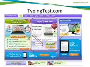Typing Test Screenshot