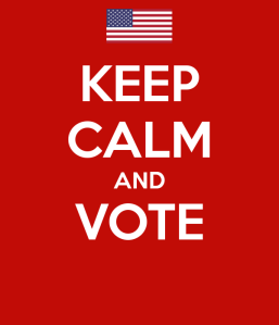 USA Flag. Keep calm and vote