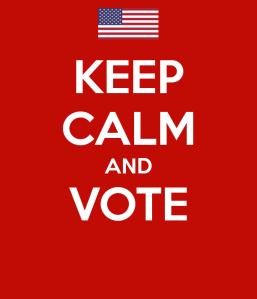 USA Flag. Keep calm and vote