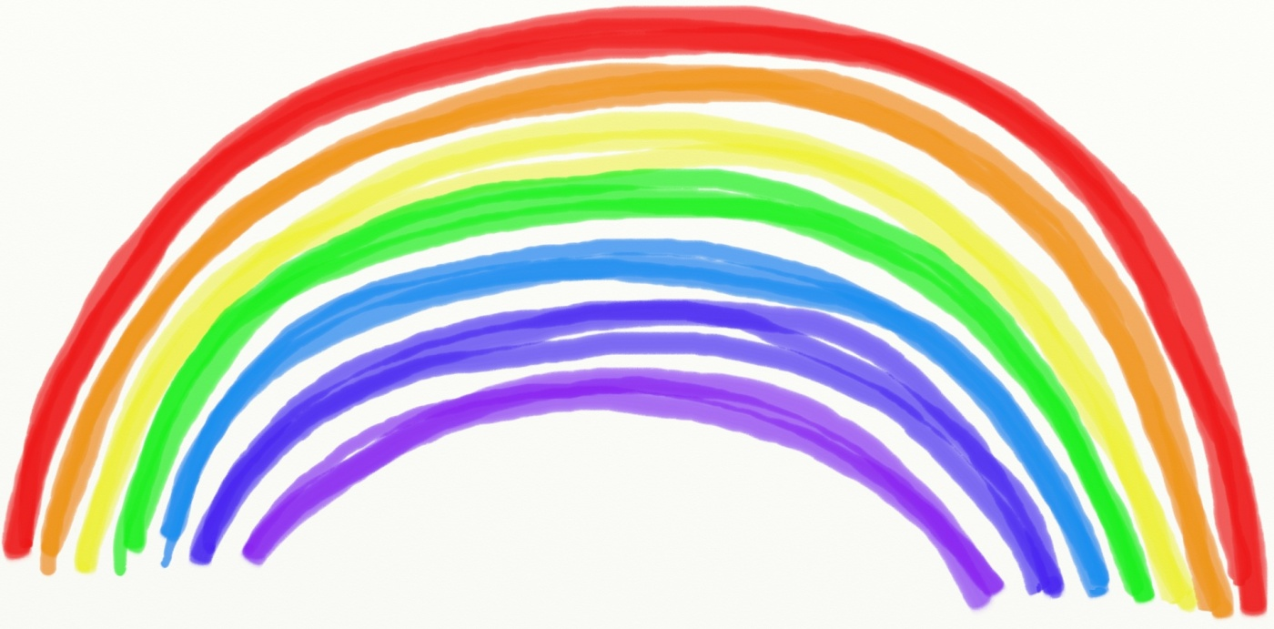 Simple drawing of a rainbow