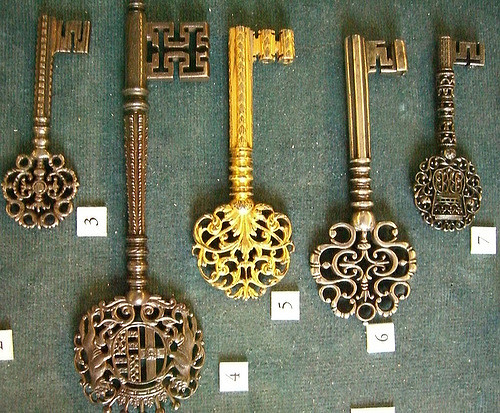Ornate keys