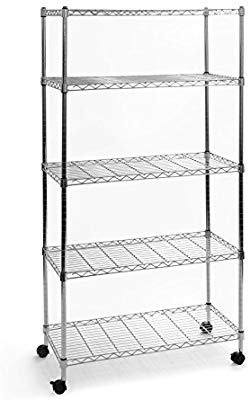 5-Tier wire shelving with sheels